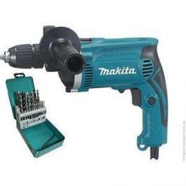 Дрель ударная Makita HP1631KX2 + набор сверл (D-46202)