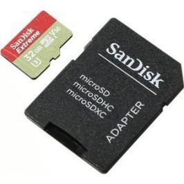 Карта памяти Sandisk Extreme microSDHC 32GB 100MB/s A1 C10 V30 UHS-I U3 (SDSQXAF-032G-GN6AA)