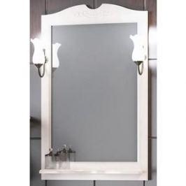 Зеркало в деревянной раме Opadiris Клио 65 белый, для светильников 00000001041, Z0000001408 (Z0000004117)