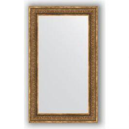 Зеркало в багетной раме поворотное Evoform Definite 73x123 см, вензель бронзовый 101 мм (BY 3223)