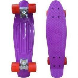 Скейтборд Ecobalance Ecobalance фиолетовый с красными колесами ОВ-2161