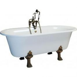 Ванна из литого мрамора Фэма Стиль Феррара 175х80 см лапы хром