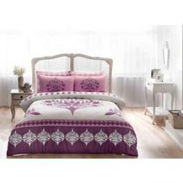 Комплект постельного белья TAC 2-х сп, сатин, Venna V05-murdum, фиолетовый (4044-27318)