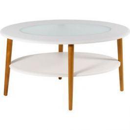 Стол журнальный Калифорния мебель Эль со стеклом СЖС-01 белый