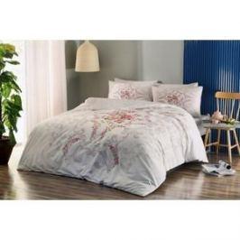 Комплект постельного белья TAC 1, 5 сп, ранфорс, Yasmin V02-pembe, розовый (3040-56553)