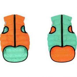 Курточка CoLLaR AiryVest Lumi двухсторонняя светящаяся оранжево-салатовая размер M 45 для собак (2253)