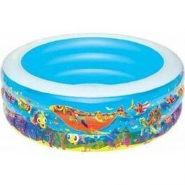 Надувной бассейн Bestway круглый Подводный мир (51123) 229х56 см