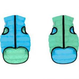 Курточка CoLLaR AiryVest Lumi двухсторонняя светящаяся салатово-голубая размер размер L 55 для собак (2320)
