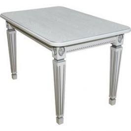 Стол обеденный Мебелик Меран белый/патина 120x80