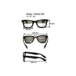 Cолнцезащитные очки Real Kids для тинейджеров Wag черный/красный (10WGBKRD)