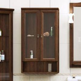 Шкаф Opadiris Клио 57 подвесной двустворчатый антикварный орех матовые стекла (Z0000003404)
