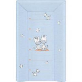 Матраc пеленальный Ceba Baby 80 см с изголовьем на кровать 125*65 см Zebra blue W-211-002-160