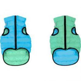 Курточка CoLLaR AiryVest Lumi двухсторонняя светящаяся салатово-голубая размер размер М 47 для собак (2287)