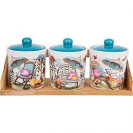 Набор банок для сыпучих продуктов 3 штуки Nouvelle Сад (660057)