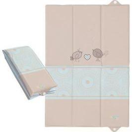 Матрас пеленальный Ceba Baby (Себа Беби) 40*60 см для путешествий Birdies brown W-305-046-230