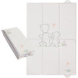 Матраc пеленальный Ceba Baby 40*60 см для путешествий Papa Bear grey W-305-004-260