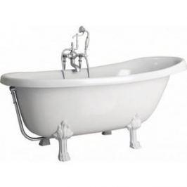 Ванна из литого мрамора Фэма Стиль Салерно 170х83 см лапы хром