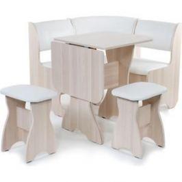 Набор мебели для кухни Бител Тюльпан мини - однотонный (ясень, Борнео милк, ясень)
