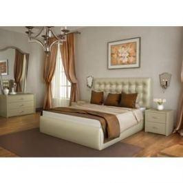 Кровать Lonax Аврора с основанием экокожа albert pearl (140x200 см)