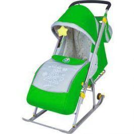 Санки-коляска Ника Детям НД4 (зеленый)