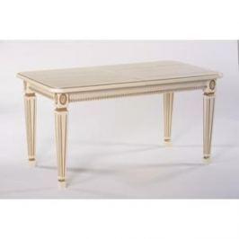 Стол обеденный Мебелик Меран 01 слоновая кость/патина 120/170x80