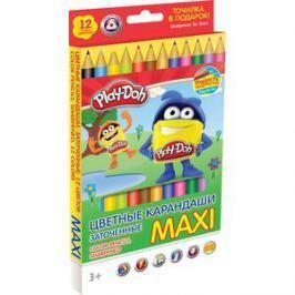 Цветные карандаши Play Doh 12 цв (PDCP-US1-8QP-12)