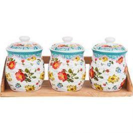 Набор банок для сыпучих продуктов 3 штуки Nouvelle Цветочная поэма (660114)