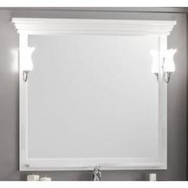 Зеркало в деревянной раме Opadiris Риспекто 105 белый матовый, для светильников Z0000006243 (Z0000012655)