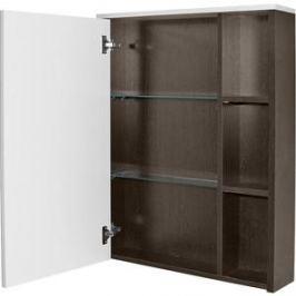 Шкаф навесной Mixline Боско 65 с зеркалом, белый / венге (2221005224729)