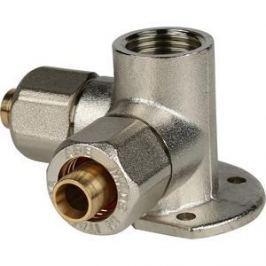 Тройник STOUT настенный с креплением для металлопластиковых труб винтовой (SFS-0014-001216)