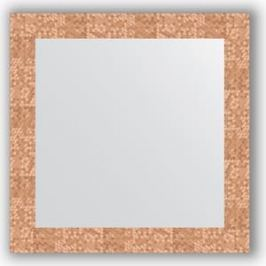 Зеркало в багетной раме Evoform Definite 66x66 см, соты медь 70 мм (BY 3146)