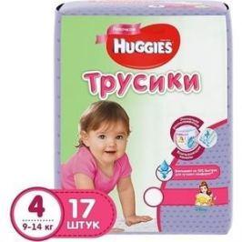 Huggies Подгузники-трусики Литтл Волкерс Размер 4 9-14кг 17шт для девочек