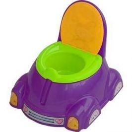 Горшок детский Marian Plast (Palplay) с крышкой (фиолетовый, зеленый, оранжевый) 531