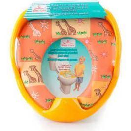 Сиденье Baby Care детское на унитаз c ручками (жёлтый) РМ 2399