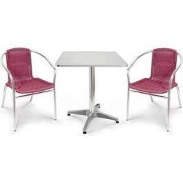Комплект мебели Afina garden LFT-3099F/T3125-60x60 bordo (2+1)