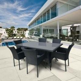 Комплект мебели из искуственного ротанга Afina garden AFM-170S Black 6Pcs (6+1)