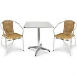 Комплект мебели Afina garden LFT-3099A/T3125-60x60 cappuccino (2+1)