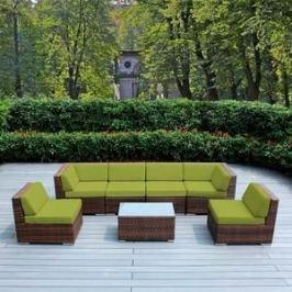 Комплект мебели из искуственного ротанга Afina garden YR822BG brown/green