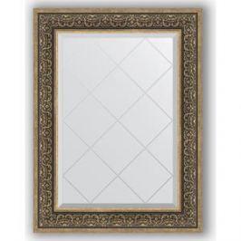 Зеркало с гравировкой поворотное Evoform Exclusive-G 69x91 см, в багетной раме - вензель серебряный 101 мм (BY 4121)