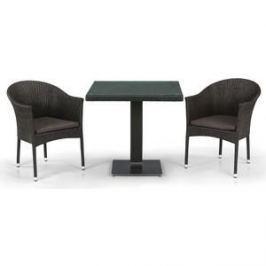 Комплект мебели из  искуственного ротанга Afina garden T605SWT/Y350B-W53/51 brown (2+1)