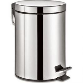 Ведро-контейнер для мусора (урна) с педалью Лайма Classic 12л зеркальное, нержавеющая сталь 232261
