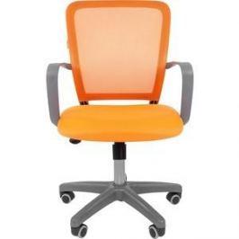 Офисноекресло Chairman 698 серый пластик TW оранжевый