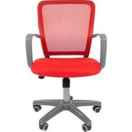 Офисноекресло Chairman 698 серый пластик TW красный