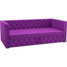 Детская кровать АртМебель Таранто микровельвет фиолетовый