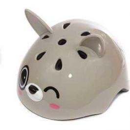 Шлем детский REXCO 3D Зайка Банни серый HPG020
