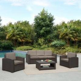 Комплект мебели с диваном Afina garden AFM-3017B dark brown
