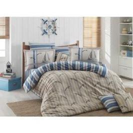 Комплект постельного белья Hobby home collection Евро, поплин, Marinella голубой (1501001329)