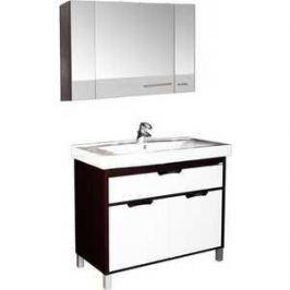 Комплект мебели Aquanet Гретта 100 №2 цвет венге (фасад белый)