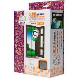 Сетка-штора Help на дверь противомоскитная с магнитным замком и с крепежной лентой 45х210 см 2 шт (80004)