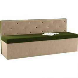 Кухонный диван АртМебель Салвадор микровельвет зелено-бежевый